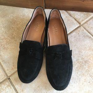 Franco Sarto Suede Bow Loafers
